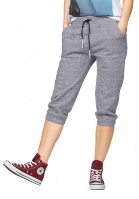 Sweatpants, grey-blended