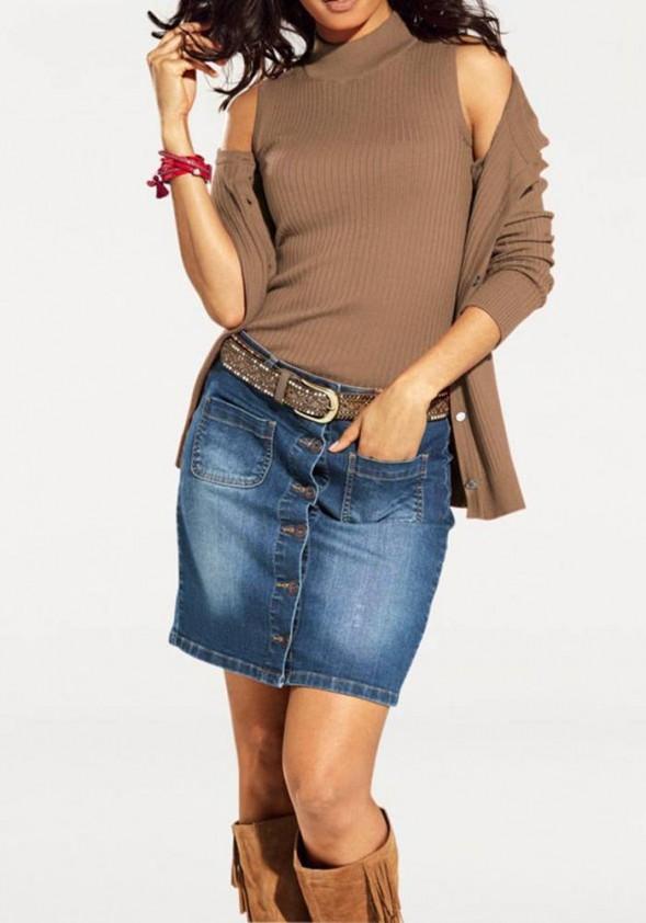 Rudas megztinis + palaidinė