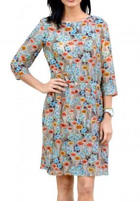 Gėlėta suknelė su šilku Liko 42 dydis