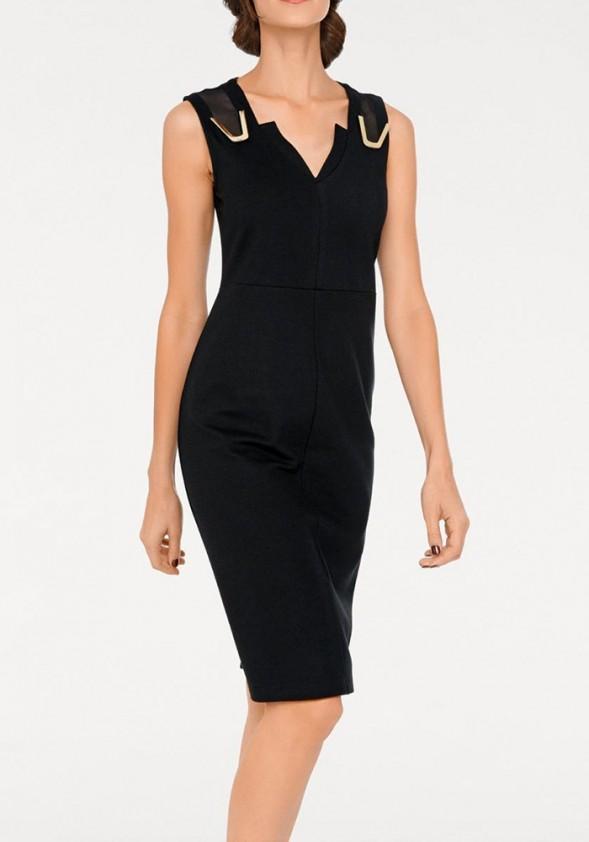 Elegantiška juoda suknelė