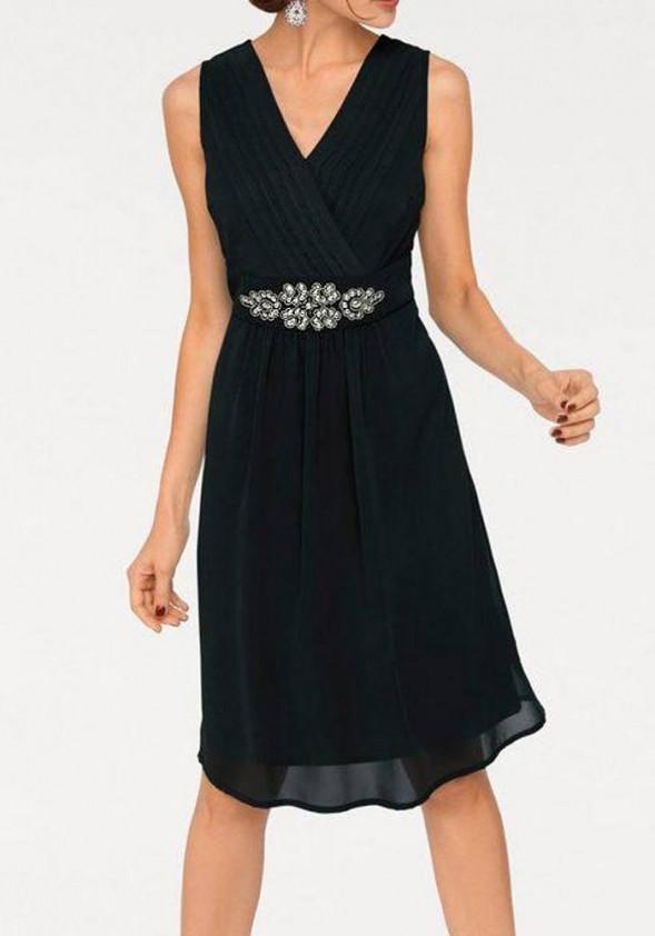 Designer cocktail dress, black