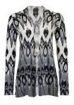 Print sweater, gray-white