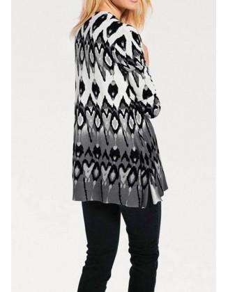 Pilkas margintas megztinis