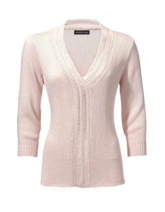 Švelniai rausvas megztinis