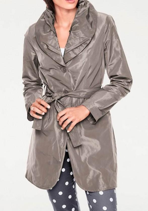 Rudas blizgus paltukas