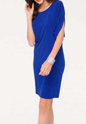 Ryškiai mėlyna suknelė