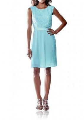 Lace dress, aqua