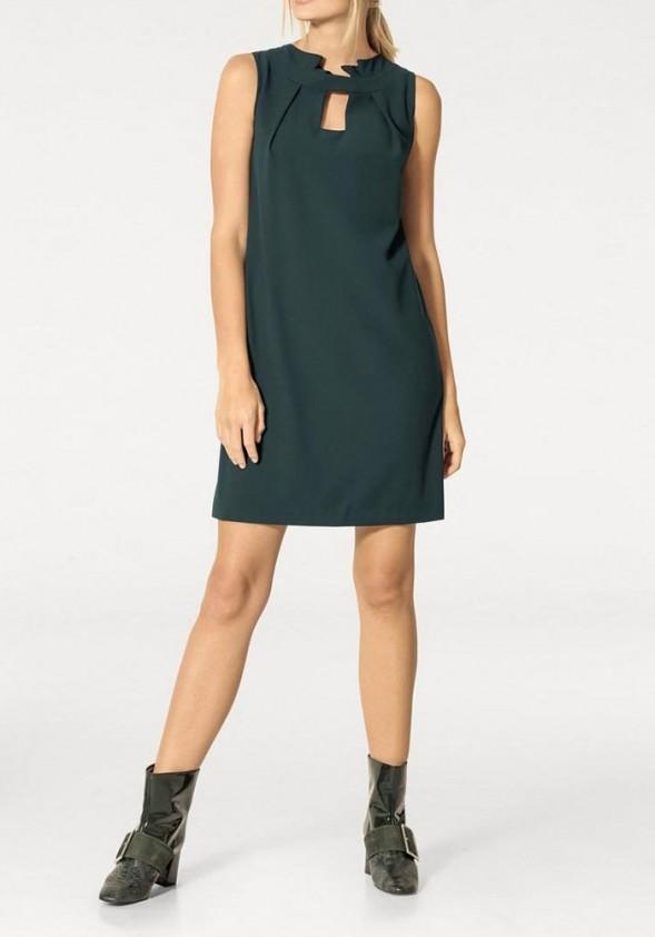 Dress, fir green