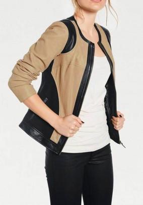 Lamb nappa leather jacket, sand