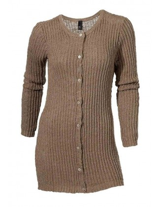 Rudas megztinis su sagomis