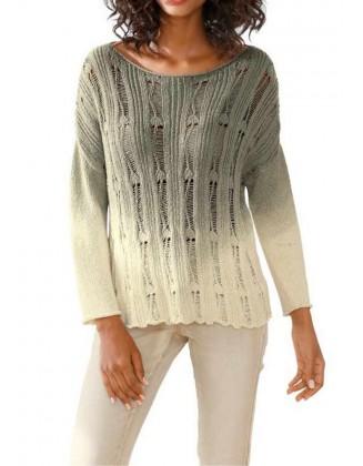 Šviesus chaki megztinis