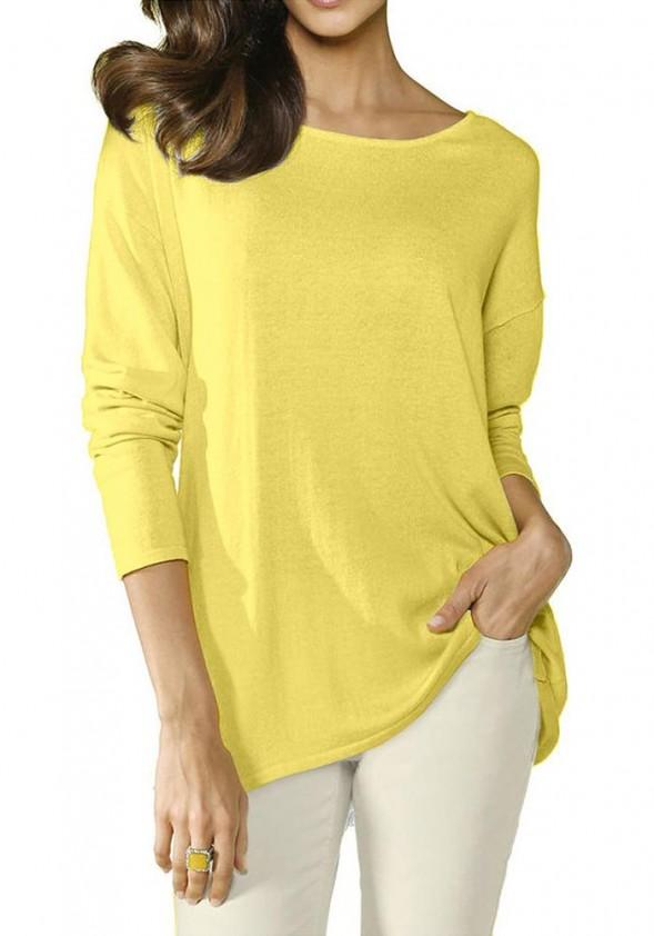 Ryškiai geltona palaidinė