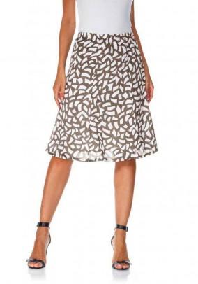 Rusvas margas sijonas