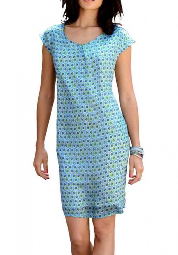 Melsva šilkinė suknelė