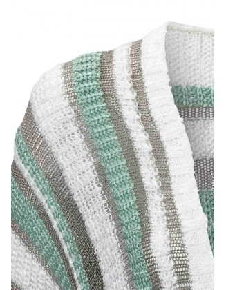 Dryžuotas blizgus megztinis