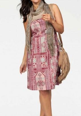 Sheath dress, red-sand