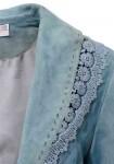 Mėlynas verstos odos švarkas