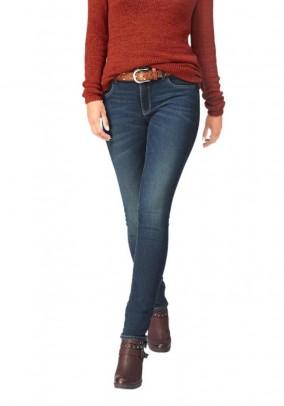 Mėlyni skinny tipo džinsai