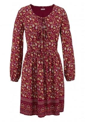 Bordo vintažinė suknelė. Liko 42 dydis
