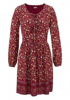 Bordo vintažinė suknelė