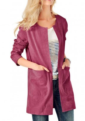 Leather coat, pink