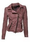 Biker style short jacket, mauve