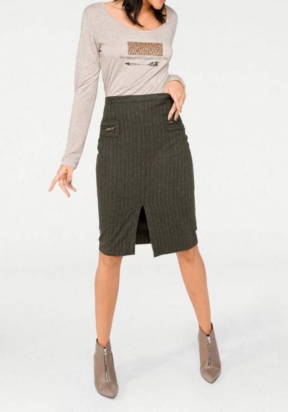 Chaki spalvos sijonas
