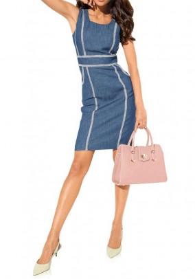 Mėlyna džinsinė suknelė
