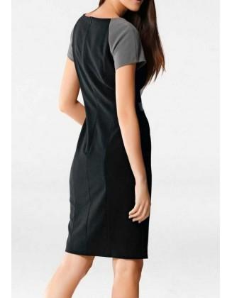 Klasikinė dviejų spalvų suknelė