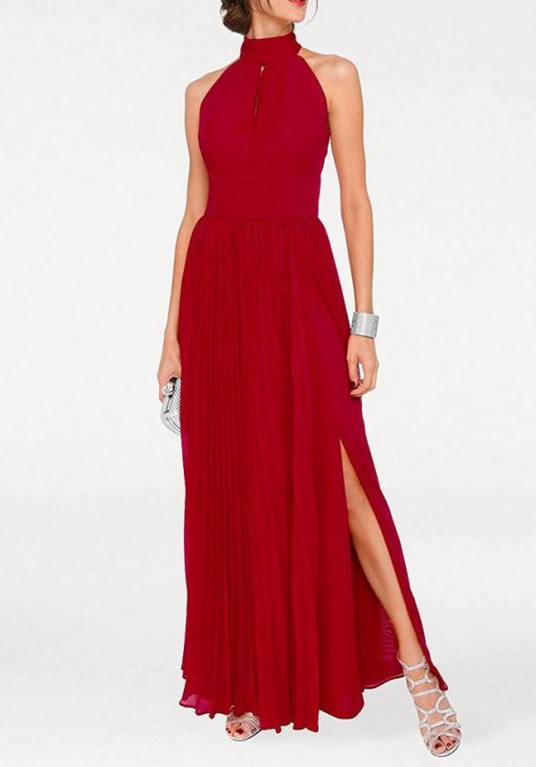 Raudona vakarinė suknelė