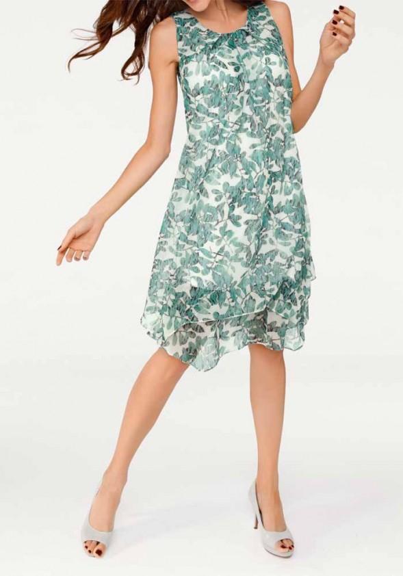 Žalia vasarinė suknelė