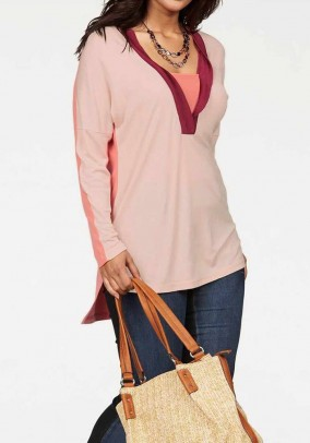 Tunic, rose-coral