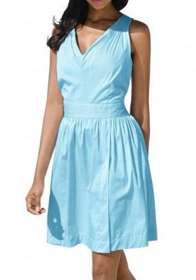 Šviesi turkio spalvos suknelė