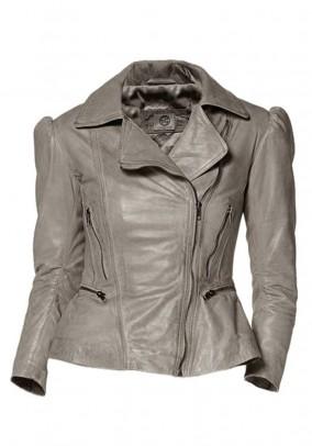 Lamb nappa jacket, grey