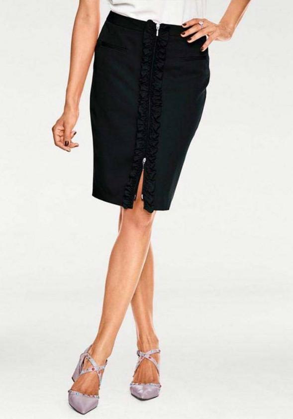 Juodas pieštuko tipo sijonas