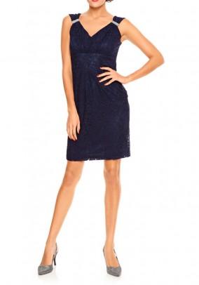 Tamsiai mėlyna kokteilinė suknelė