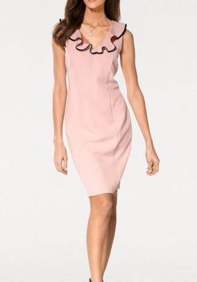 Rausva elegantiška klasikinė suknelė