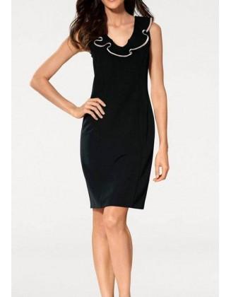 Juoda elegantiška klasikinė suknelė