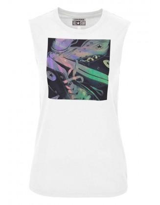 Balti CONVERSE marškinėliai