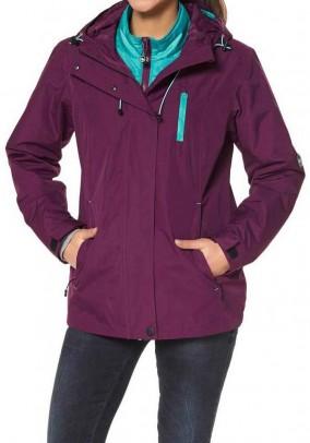 Function jacket, fuchsia-mint