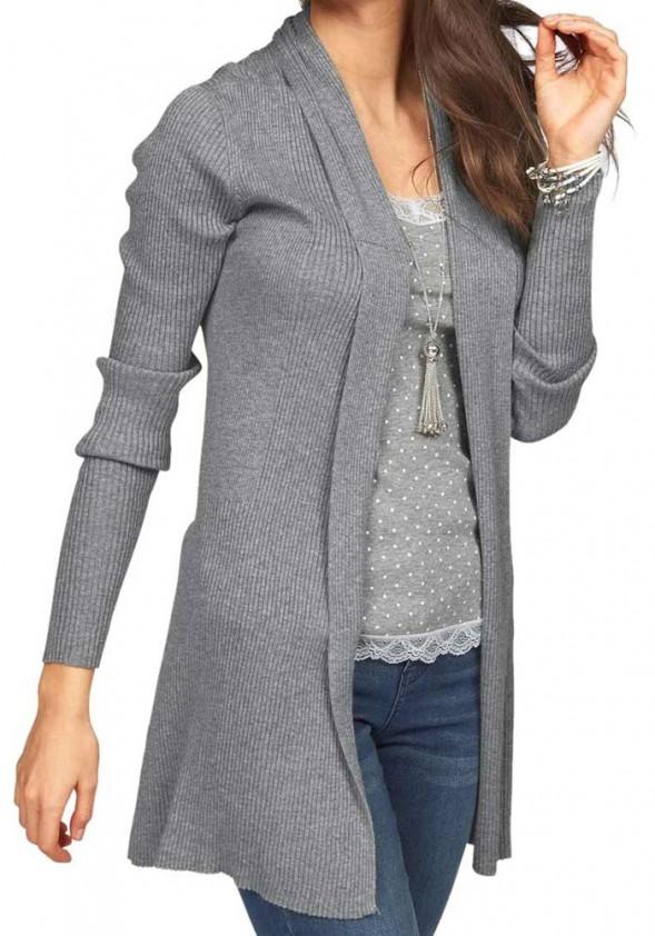 Ilgas pilkas megztinis. Liko 36/38 dydis