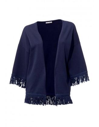 Mėlynas megztinis su kutais