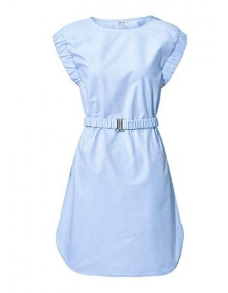 Melsva suknelė su diržu