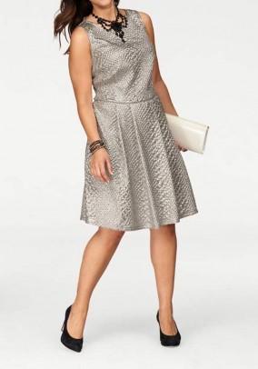 Sidabro spalvos suknelė. Liko 44/46 dydis