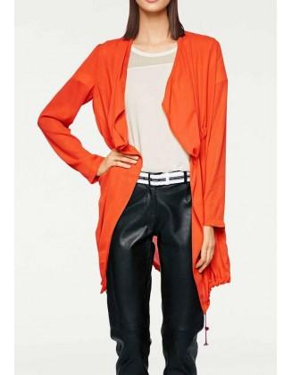 Oranžinis sportinis švarkas