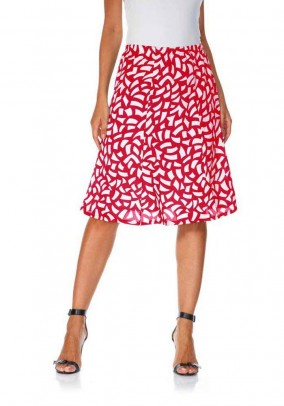 Print skirt, red-white