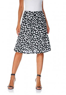 Print skirt, black-white