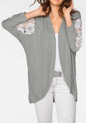 Pilkas kimono švarkas