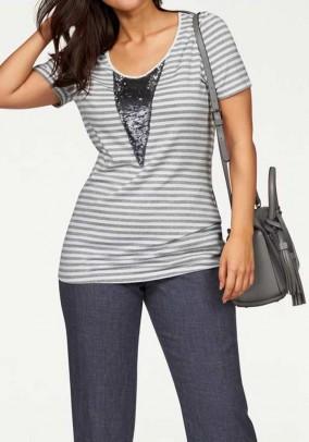 Shirt, grey-white