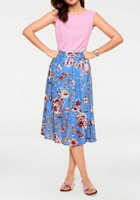 Skirt, blue-multicolour